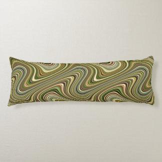 Very Unique Multicolored Curvy Line Pattern Body Pillow