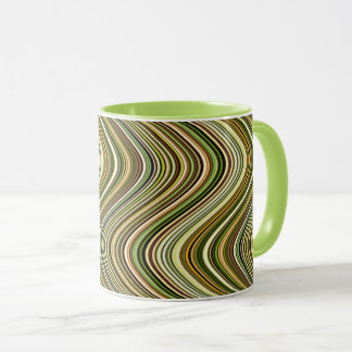Very Unique Multicolored Curvy Line Pattern Mug