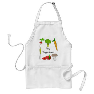 Very Veggie  Vegetables Broccoli Radish Carrot Art Standard Apron