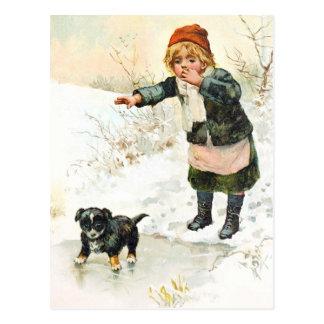 Very Venturesome Puppy Postcard