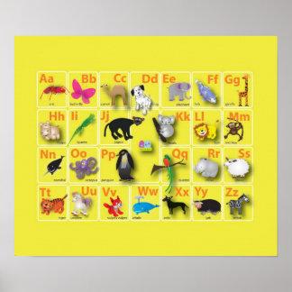 Very very cute animal Alphabets Poster