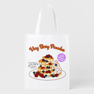 < Very very the pancake > Very berry pancakes Reusable Grocery Bag