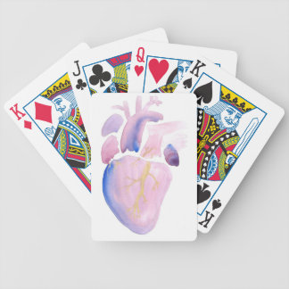 Very Violet Heart Bicycle Playing Cards