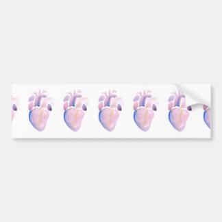 Very Violet Heart Bumper Sticker