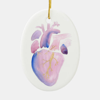 Very Violet Heart Ceramic Ornament
