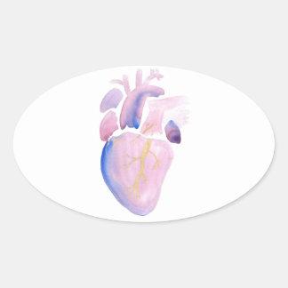 Very Violet Heart Oval Sticker