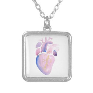Very Violet Heart Silver Plated Necklace