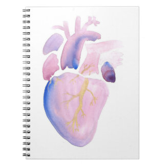 Very Violet Heart Spiral Notebook