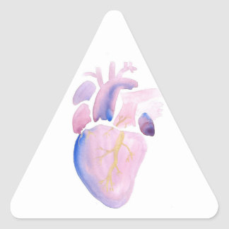 Very Violet Heart Triangle Sticker