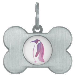 Very Violet Penguin Pet Name Tag