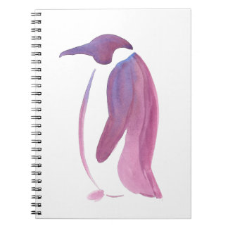 Very Violet Penguin Spiral Note Books