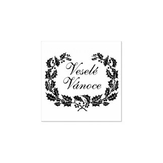 Vesele Vanoce. Merry Christmas rubber stamp. Rubber Stamp