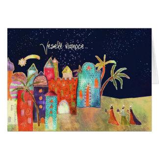 Veselé vianoce, Merry Christmas in Slovak Card