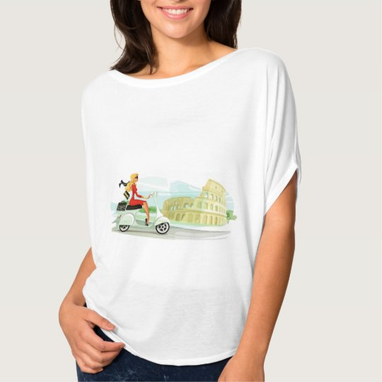 Vespa Girl in Rome T-Shirt