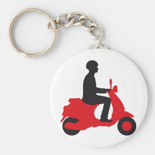 Vespa more scooter key chains