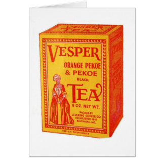 Vesper Tea Package, Card
