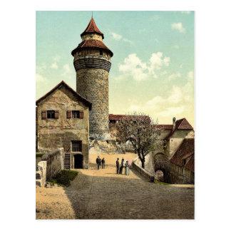 Vestner Tower, Nuremberg, Bavaria, Germany rare Ph Postcard