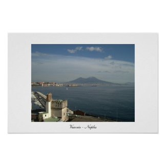 Vesuvio and Bay of Naples view Poster