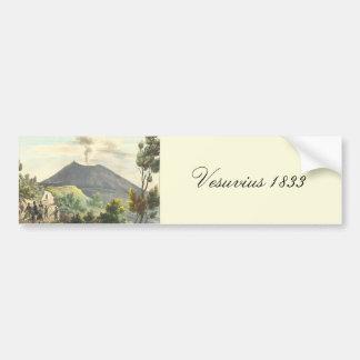 Vesuvius Active Volcano 1832 Naples Italy Bumper Sticker