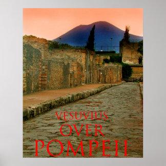 vesuvius over pompeii poster
