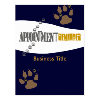 Vet Animal Care Appointment Reminder Postcard