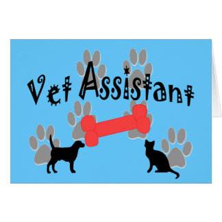 Vet Assistant Gifts Greeting Card