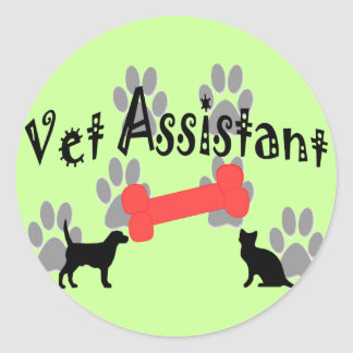 Vet Assistant Gifts Round Sticker