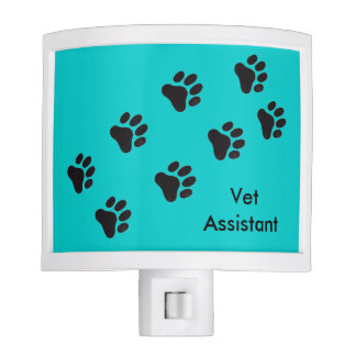 Vet Assistant Night Light Paw Prints