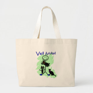 Vet Assistant Stick Person With Black Cats Canvas Bag