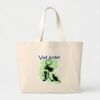 Vet Assistant Stick Person With Black Cats Canvas Bag