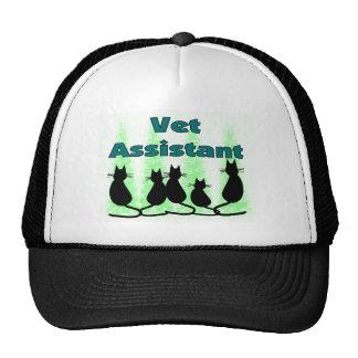 Vet Assistant Tech Trucker Hats