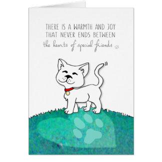 Vet & Business Cat Sympathy Card - Warmth & Joy