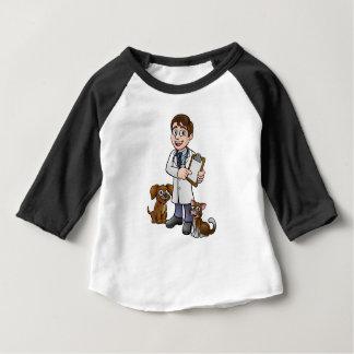 Vet Cartoon Character Holding Clipboard Baby T-Shirt