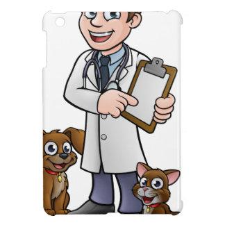 Vet Cartoon Character Holding Clipboard Case For The iPad Mini