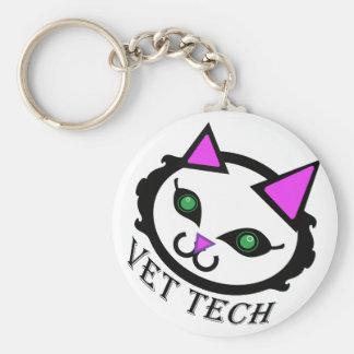Vet tech cat keychain