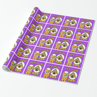 vet tech gift wrap ecollar buddies design