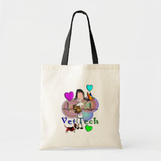 Vet Tech Gifts Unique Embossed Style Graphics Budget Tote Bag