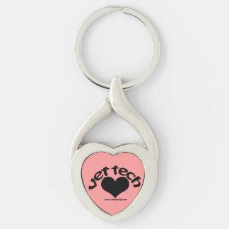 vet tech heart drop keychain