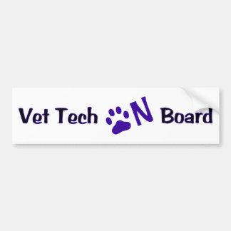 Vet Tech On Board #222 Bumper Sticker