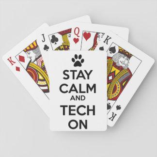 vet tech playing cards