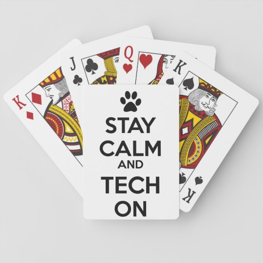 vet tech playing cards