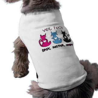 Vet Tech SPAY NEUTER ADOPT Black Cats Design Dog Tshirt
