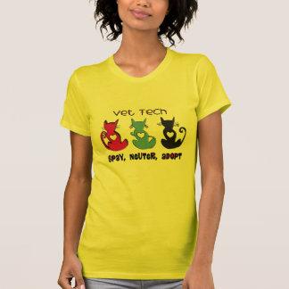 Vet Tech SPAY NEUTER ADOPT Black Cats Design Shirt