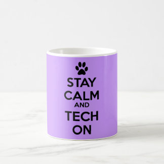 vet tech stay calm mug purple