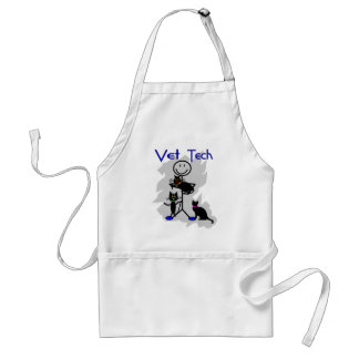 Vet Tech Stick Person With Black Cats Standard Apron