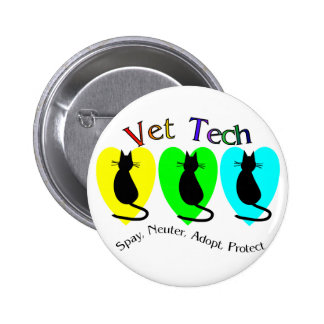 Vet Tech , Unique Gifts for Veterinary Staff 2 Inch Round Button