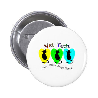 Vet Tech Unique Gifts for Veterinary Staff Pinback Button