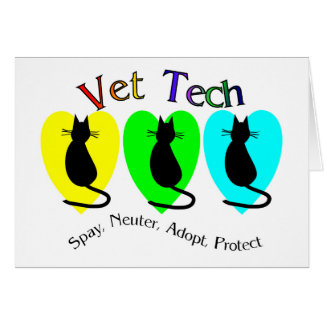 Vet Tech , Unique Gifts for Veterinary Staff Greeting Card