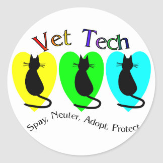 Vet Tech , Unique Gifts for Veterinary Staff Round Sticker