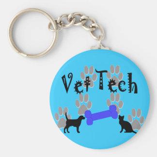 Vet TECH With Dog Bone Basic Round Button Keychain